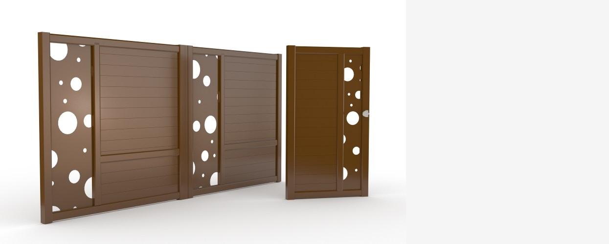 Colectie Compact Asymetrique porti si garduri aluminiu