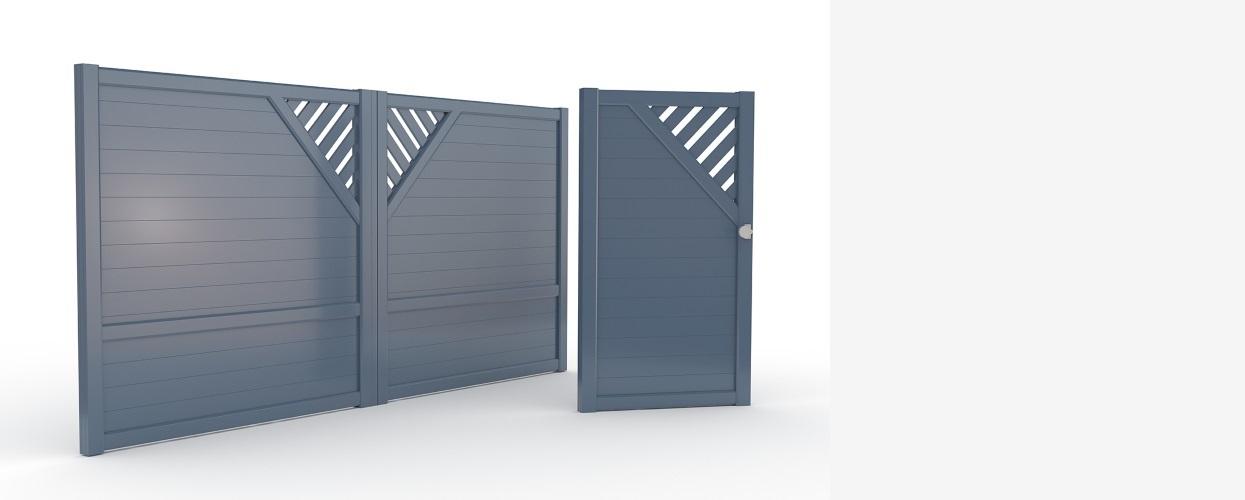 Colectie Compact porti si garduri aluminiu